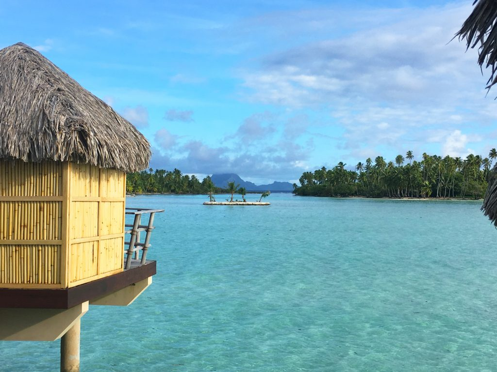 Overwater suites with Bora Bora view.