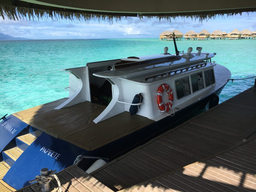 Le Taha'a resort and spa boat shuttle.