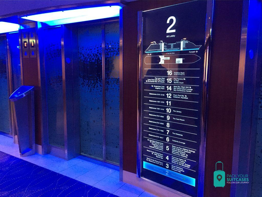 Celebrity Silhouette elevators.