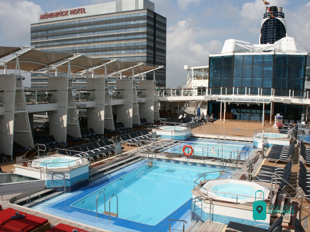 Outdoor pool on the Celebrity Silhouette.