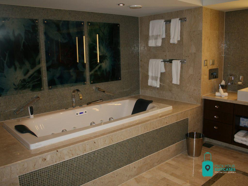 Huge bathroom in Aquaclass suite.