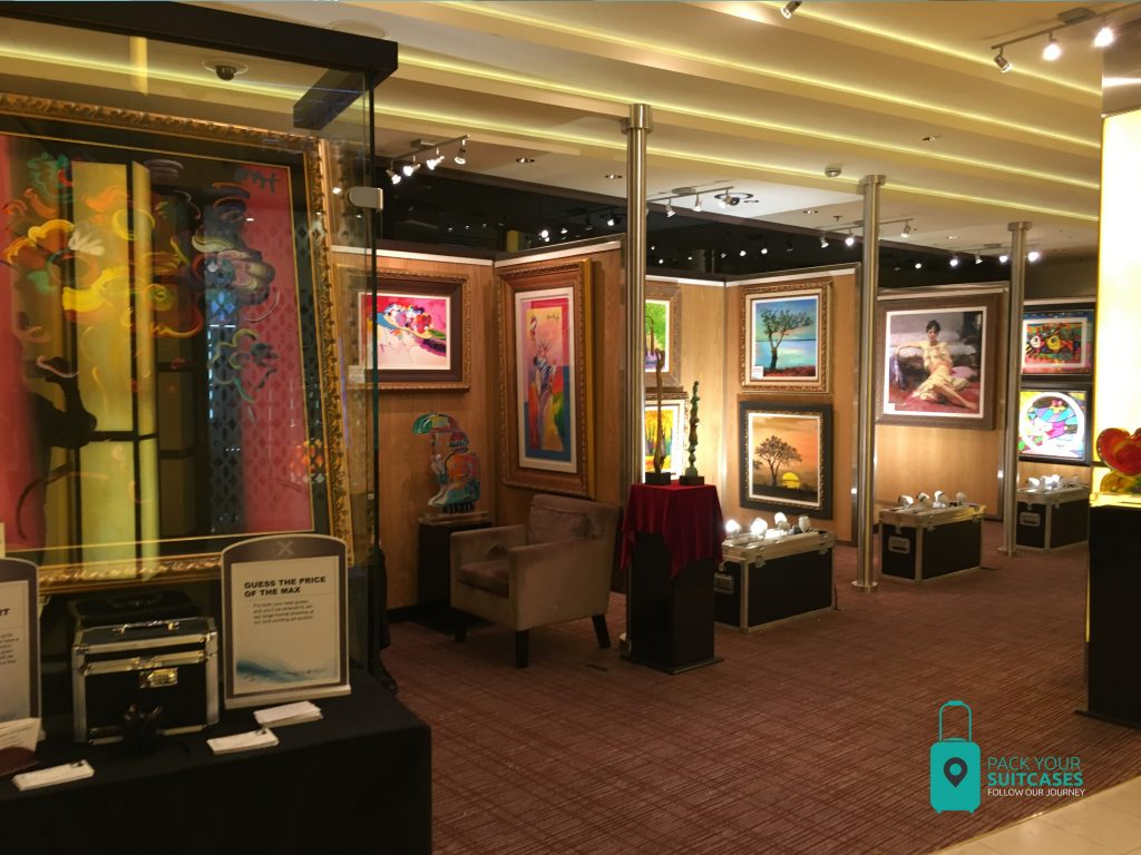 Art shops on the Celebrity Silhouette.