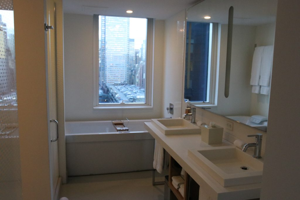 VIP view suite bathroom.