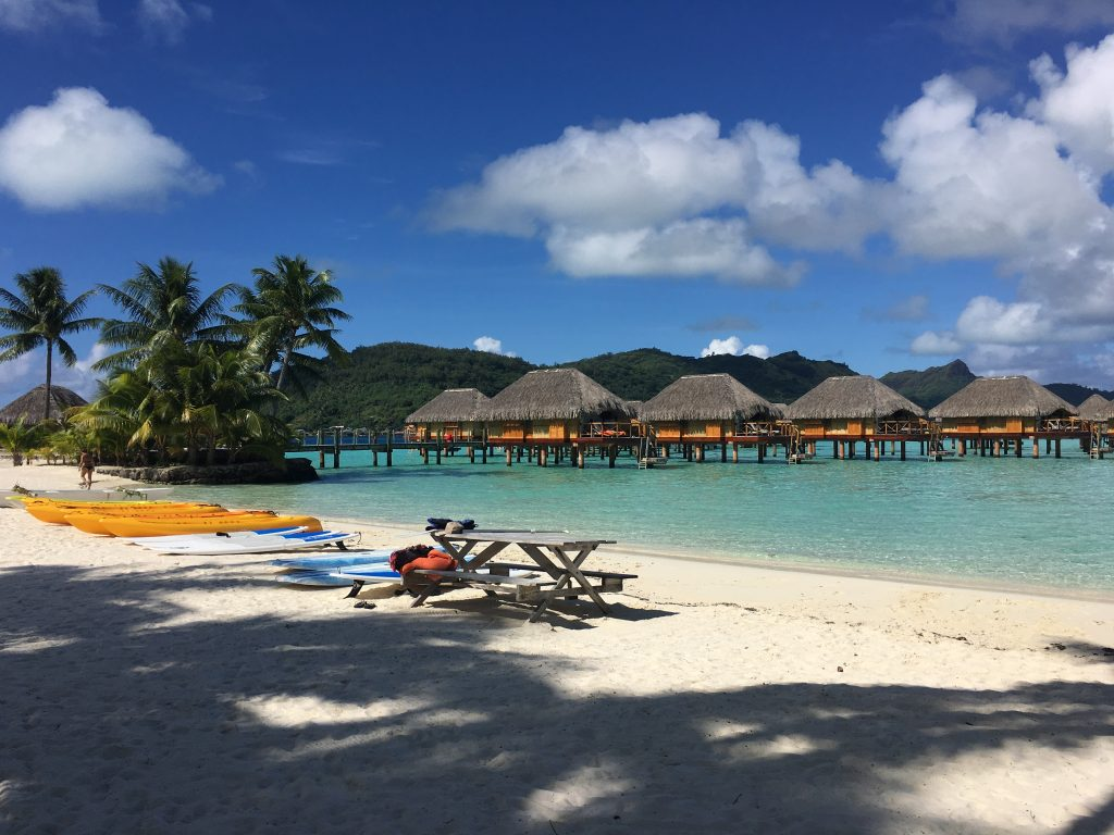 The Beach at the Bora Bora Pearl Beach resort.
