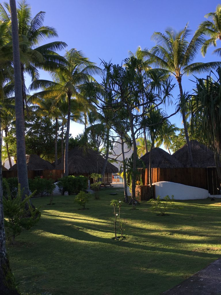 Garden bungalows at the Bora Bora Pearl beach resort.