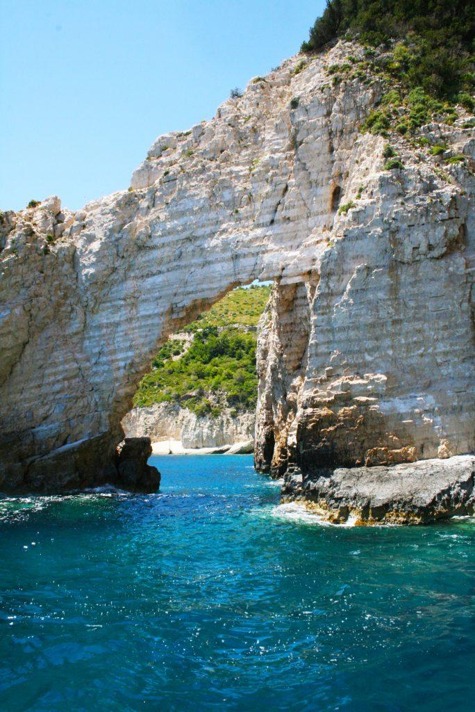 Beautiful cliffs in Zakynthos.