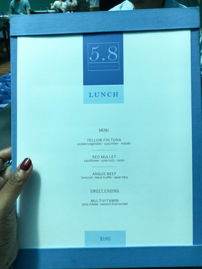 Dining With Fish At 5 8 Undersea Restaurant In The Maldives